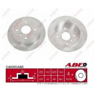 ABE C40005ABE Тормозной диск Дэу Еванда