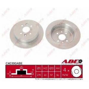 ABE C40300ABE Тормозной диск Киа Сефия