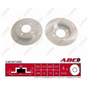 ABE C40307ABE Тормозной диск Киа Спектра
