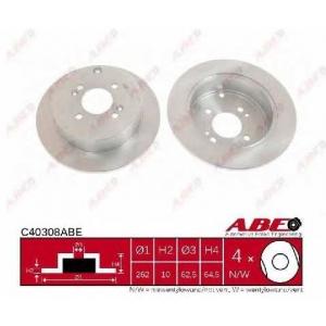 ABE C40308ABE Тормозной диск Хюндай Ай 20