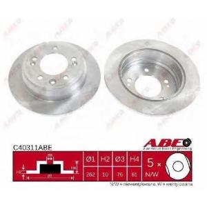 Тормозной диск c40311abe abe - KIA SPORTAGE (SL) вездеход закрытый 1.6 GDI