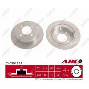 ABE C40504ABE Тормозной диск Хюндай Матрикс