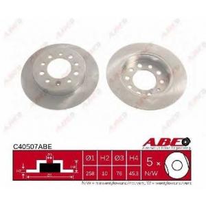ABE C40507ABE Тормозной диск Хюндай Купе