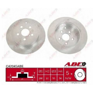 ABE C42045ABE Гальмівний диск