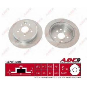 ABE C42061ABE Тормозной диск Лексус Ай-Ес