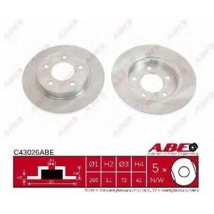 ABE C43026ABE Тормозной диск Мазда 3