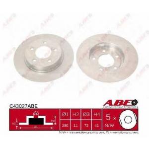 ABE C43027ABE Тормозной диск Мазда 3
