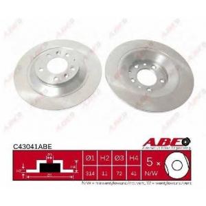 ABE C43041ABE Тормозной диск Мазда 6