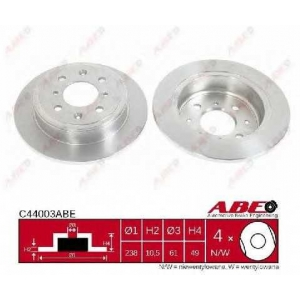 ABE C44003ABE Тормозной диск Хонда Црх