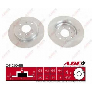 ABE C44010ABE Тормозной диск Хонда Акорд