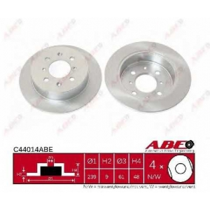 ABE C44014ABE Тормозной диск Хонда Джаз