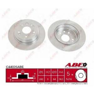 ABE C44026ABE Тормозной диск Хонда Црв