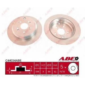 ABE C44034ABE Гальмівний диск