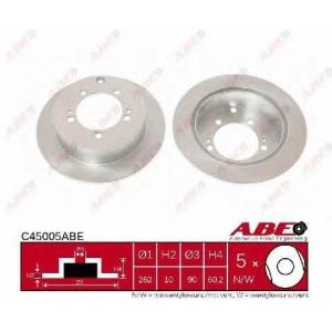 ABE C45005ABE Тормозной диск Митсубиси Оутландер