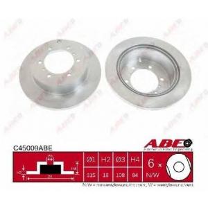 ABE C45009ABE Тормозной диск Митсубиси Л 400
