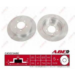 ABE C45023ABE Тормозной диск Митсубиси Оутландер