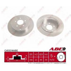 ABE C45024ABE Тормозной диск Митсубиси Грандис