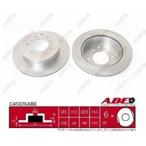 ABE C45026ABE Гальмівний диск