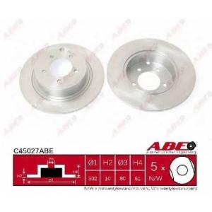ABE C45027ABE Тормозной диск Митсубиси Оутландер