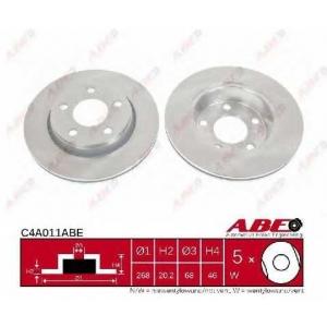 ABE C4A011ABE Тормозной диск Ауди 200
