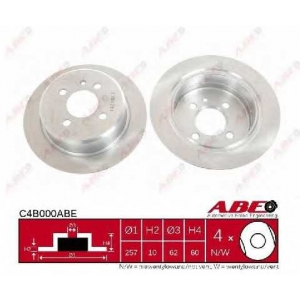 ABE C4B000ABE Тормозной диск Бмв З1