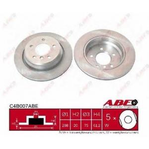 ABE C4B007ABE Гальмівний диск