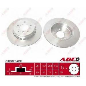 ABE C4B025ABE Тормозной диск Бмв 6
