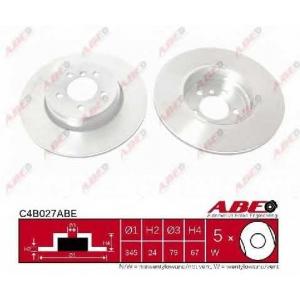 ABE C4B027ABE Тормозной диск Бмв 6