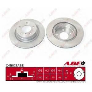 ABE C4B028ABE Тормозной диск Бмв 1