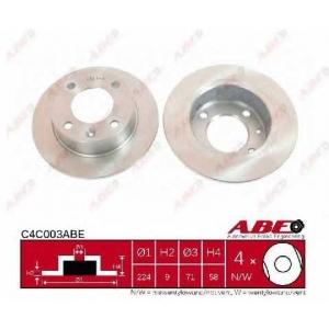 ABE C4C003ABE Тормозной диск Ситроен Ксантия Брейк