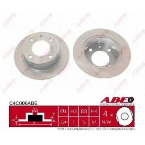 ABE C4C006ABE Тормозной диск Ситроен Бх Брейк