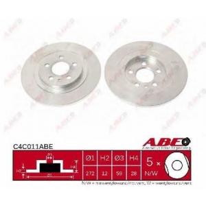 ABE C4C011ABE Тормозной диск Фиат
