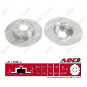 ABE C4D008ABE Тормозной диск Лансия