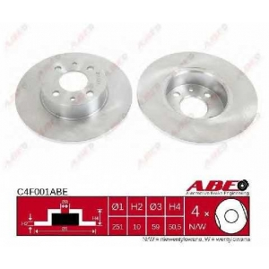 ABE C4F001ABE Тормозной диск Лансия