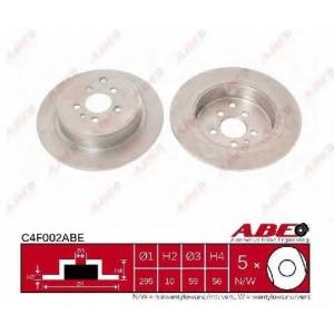 ABE C4F002ABE Тормозной диск Фиат
