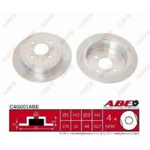 ABE C4G001ABE Тормозной диск Форд Орион