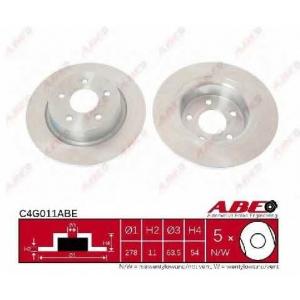 ABE C4G011ABE Гальмівний диск