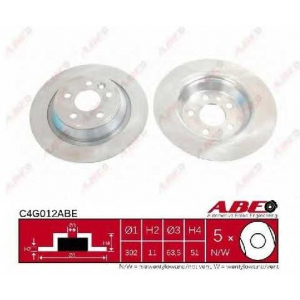 ABE C4G012ABE Тормозной диск Форд Куга
