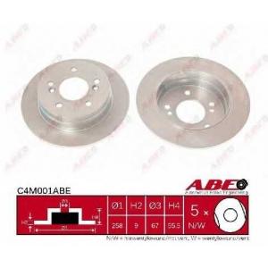 ABE C4M001ABE Гальмівний диск