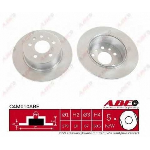 ABE C4M010ABE Тормозной диск Мерседес Кабриолет