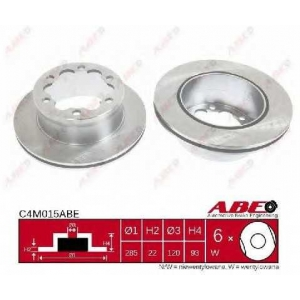 ABE C4M015ABE Тормозной диск Мерседес Спринтер 4Т