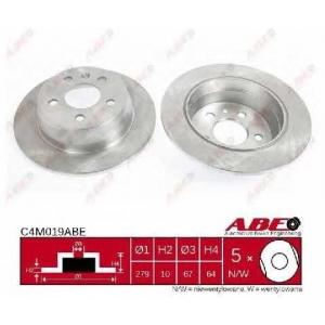 ABE C4M019ABE Тормозной диск Мерседес В Класс