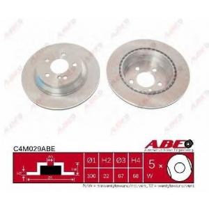 ABE C4M029ABE Тормозной диск Мерседес Джт Л-Класс