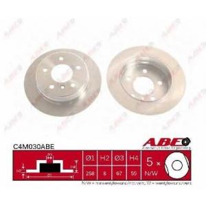 Тормозной диск c4m030abe abe - MERCEDES-BENZ A-CLASS (W168) Наклонная задняя часть A 160 (168.033, 168.133)