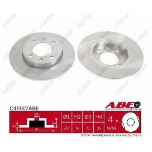 ABE C4P007ABE Тормозной диск Ситроен С4