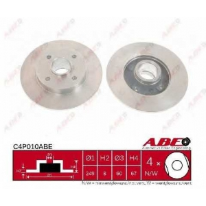 ABE C4P010ABE Тормозной диск Ситроен С4