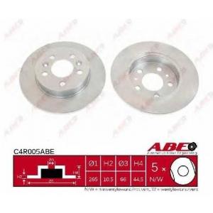 ABE C4R005ABE Тормозной диск Рено Сафране