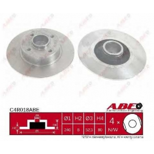 ABE C4R018ABE Тормозной диск Рено Модус