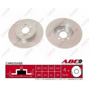 ABE C4R020ABE Тормозной диск Рено Кангу