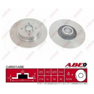 ABE C4R021ABE Тормозной диск Рено Сценик